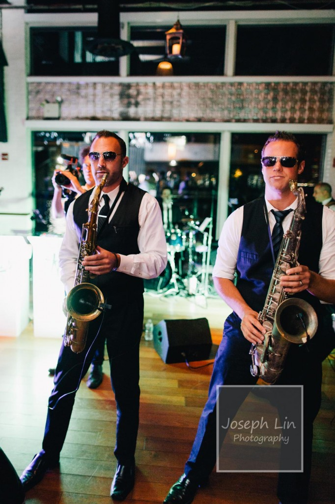 The only time you're allowed to wear sunglasses indoors and in the dark is when you got a sax between your hands.